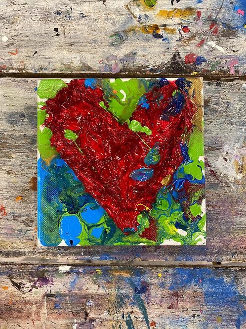 Mini Heart Canvas #4