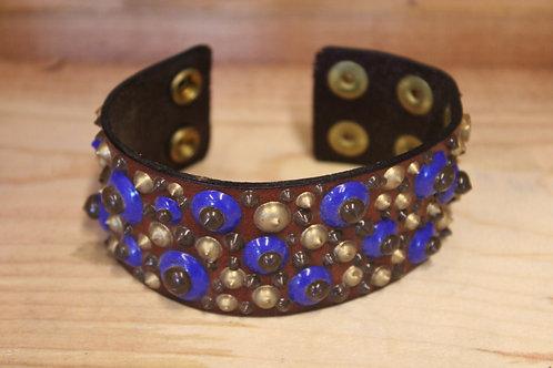 Painted Leather Bracelet #5