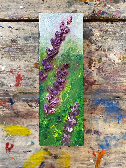 Abstract Purple Flower Canvas