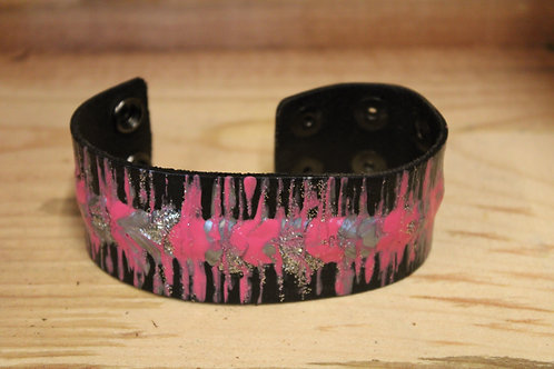 Painted Leather Bracelet #75