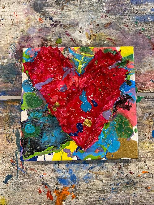 Mini Heart Canvas #24