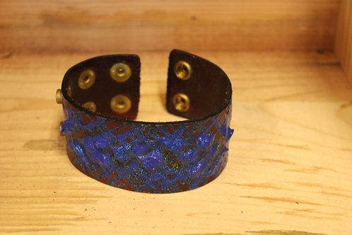 Painted Leather Bracelet #69