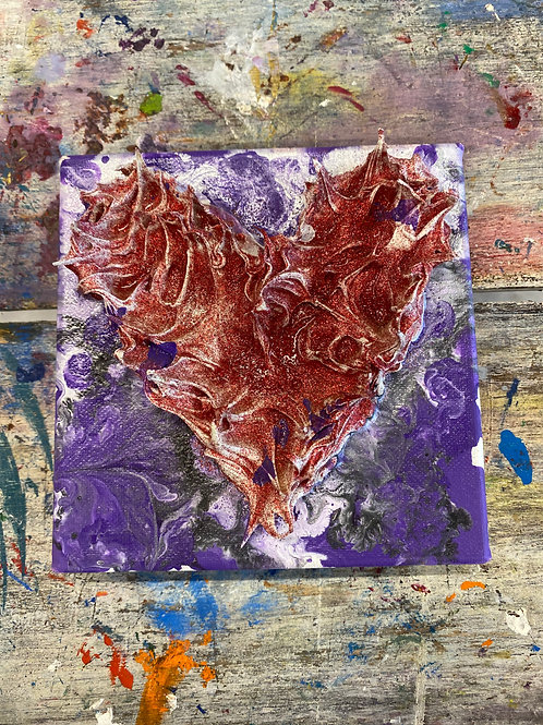 Mini Heart Canvas #21