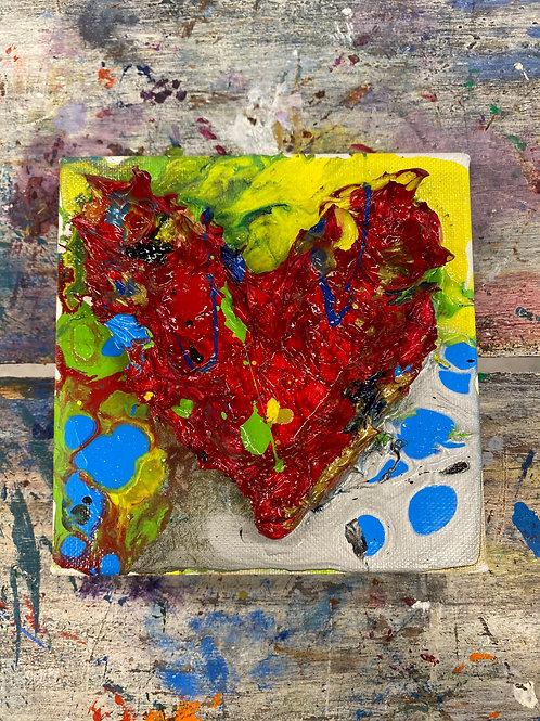 Mini Heart Canvas #8
