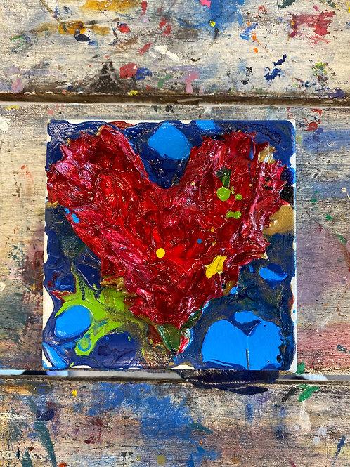 Mini Heart Canvas #2