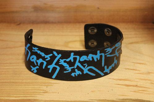 Painted Leather Bracelet #58