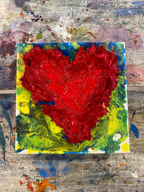 Mini Heart Canvas #17