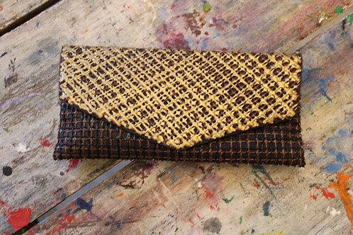 Gold and Brown Painted Handbag