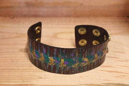 Painted Leather Bracelet #72