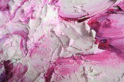 Dark Pink Peony 60x48 Oil on Canvas