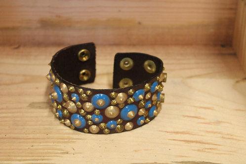Painted Leather Bracelet #71