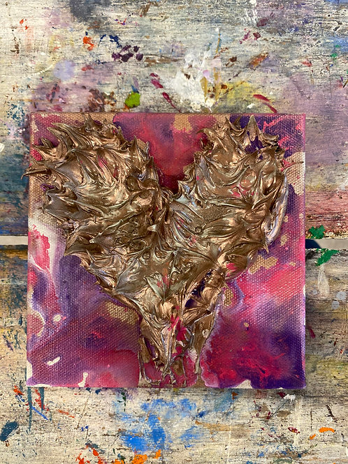 Mini Heart Canvas #10