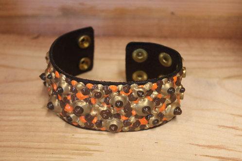 Painted Leather Bracelet #29