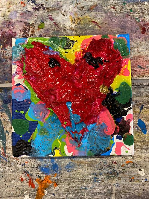 Mini Heart Canvas #23