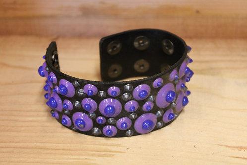 Painted Leather Bracelet #43