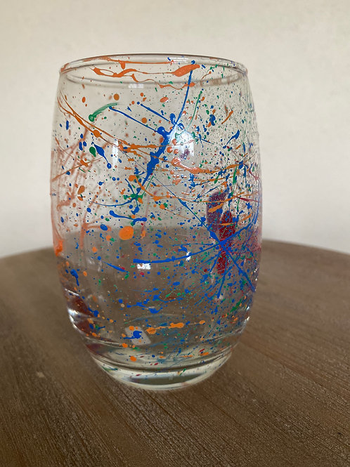 Painted Glass Cup #5