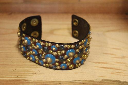 Painted Leather Bracelet #73