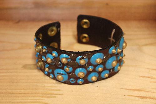 Painted Leather Bracelet #28