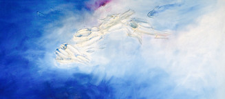Blue  70x32 Oil on Canvas