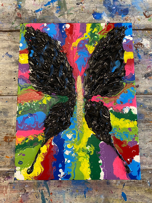 Abstract Butterfly Rainbow Canvas