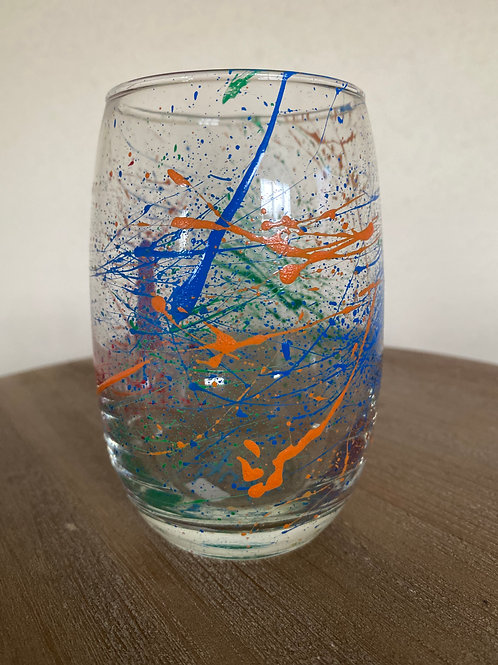 Painted Glass Cup #3