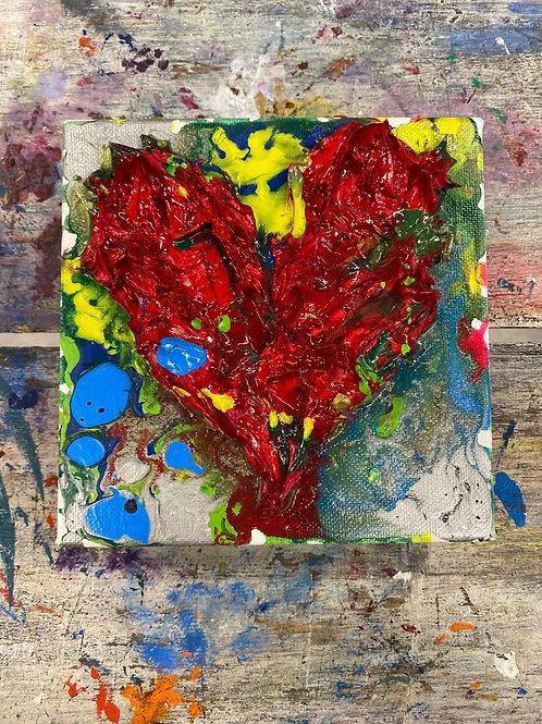 Mini Heart Canvas #13