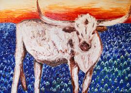 Longhorn 60x84 Oil on Canvas