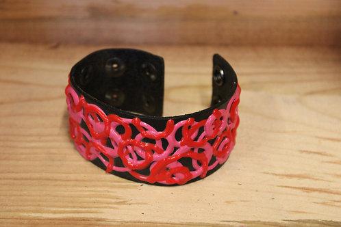 Painted Leather Bracelet #52