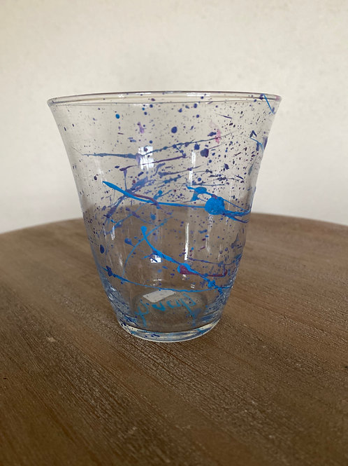 Painted Glass Cup #10