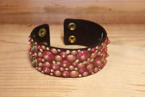 Painted Leather Bracelet #63