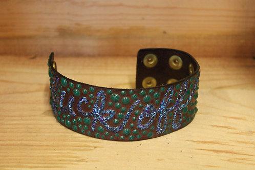 Painted Leather Bracelet #50
