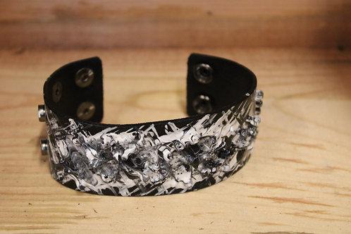 Painted Leather Bracelet #81