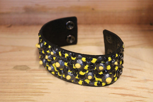 Painted Leather Bracelet #25