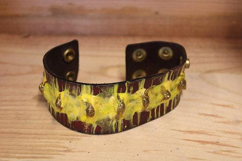 Painted Leather Bracelets #56