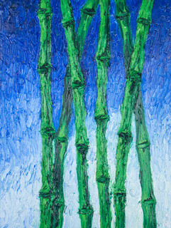 Blue Bamboo 20x15 Oil on Canvas