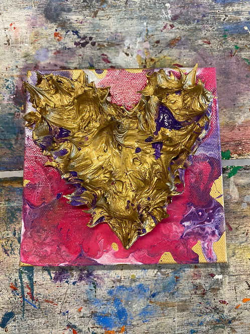 Mini Heart Canvas #19