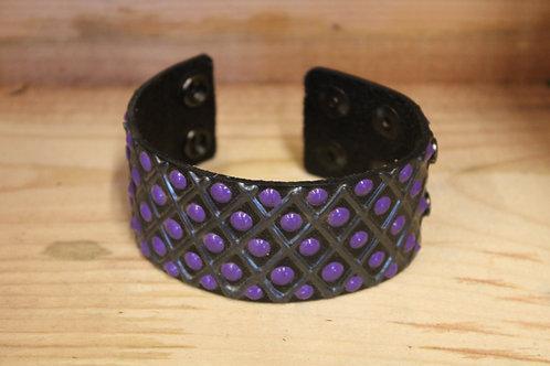 Painted Leather Bracelet #30