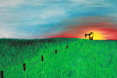 Midland, TX 48x60 Oil on Canvas