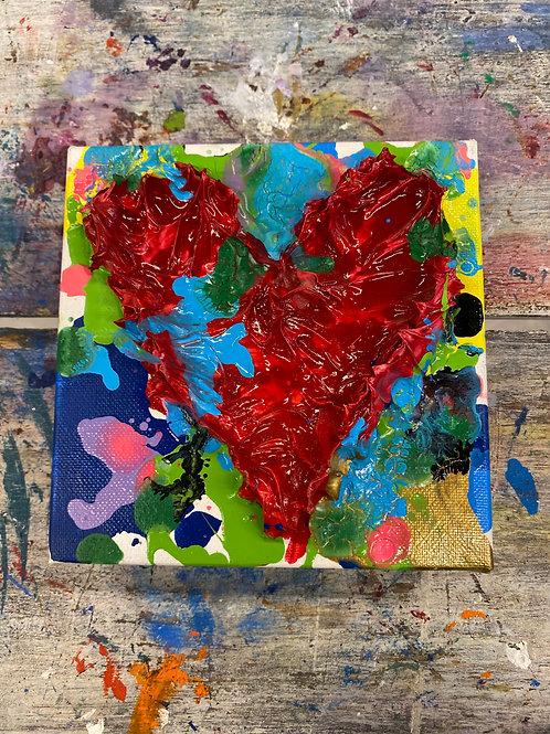 Mini Heart Canvas #16
