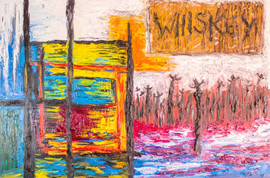 Whiskey 48x72 Oil on Canvas