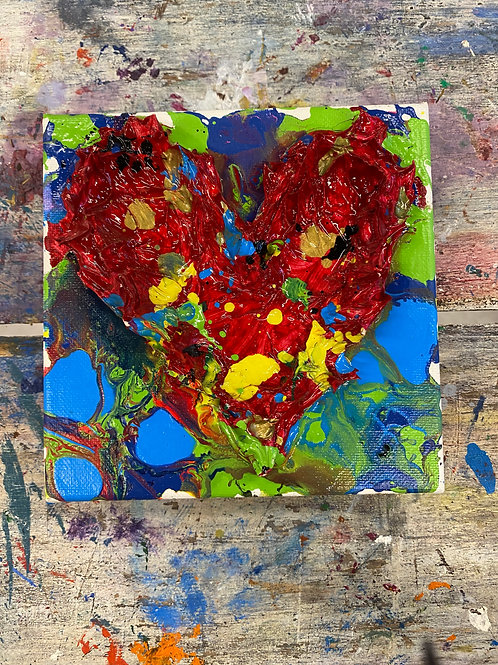 Mini Heart Canvas #5