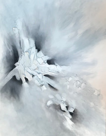Black and White Abstract I 60x48 Oil on Canvas