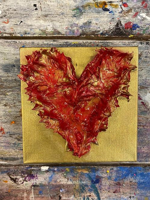 Mini Heart Canvas #3