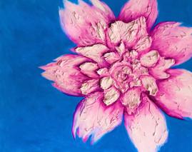 Purple Peony 48x60 Oil on Canvas