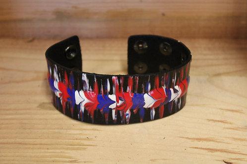 Painted Leather Bracelet #36