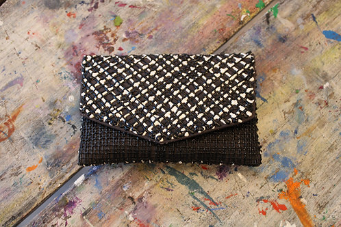 Black and White Painted Handbag