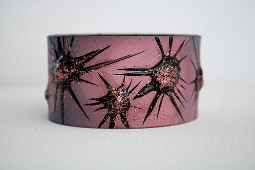 Sun Burst Bracelet - Pink & Black