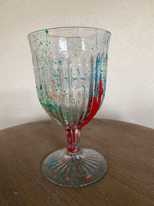 Painted Glass Cup #11
