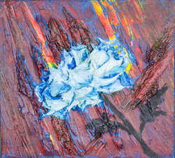 Blue Flower 11x10 ($300 - sold)