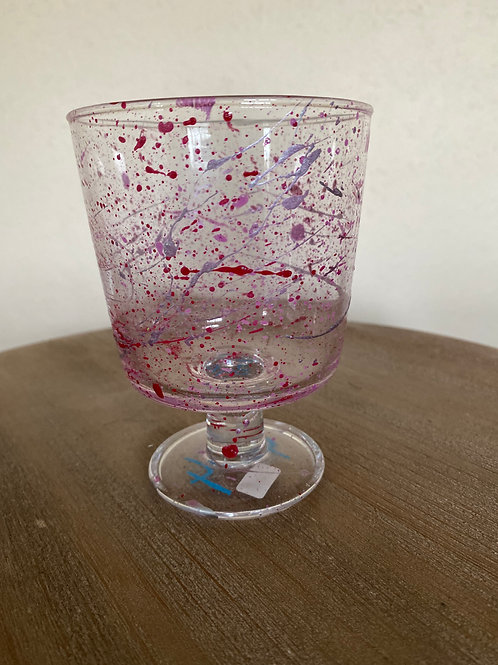 Painted Glass Cup #7